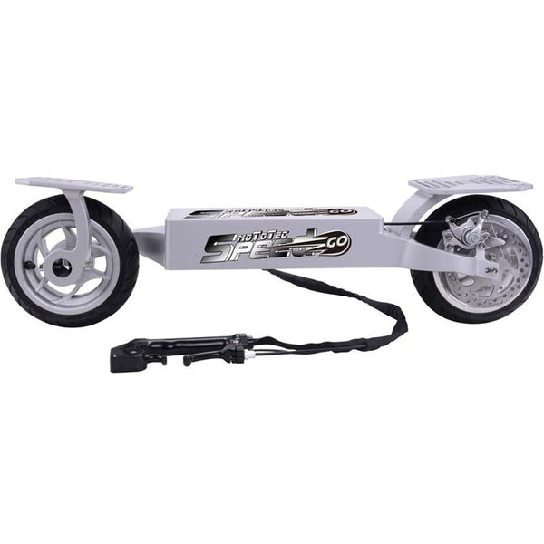Electric Skateboard MotoTec Electric Speed Go 36v Lithium- Silver-Longboards USA