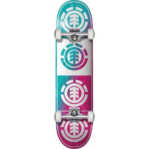 "Element Quadrant 8.0"" Teal Pink White Skateboard - Longboards USA"
