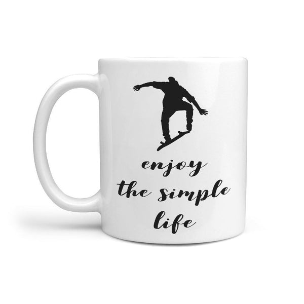 enjoy the simple life | Skateboarding Coffee Mug - Longboards USA