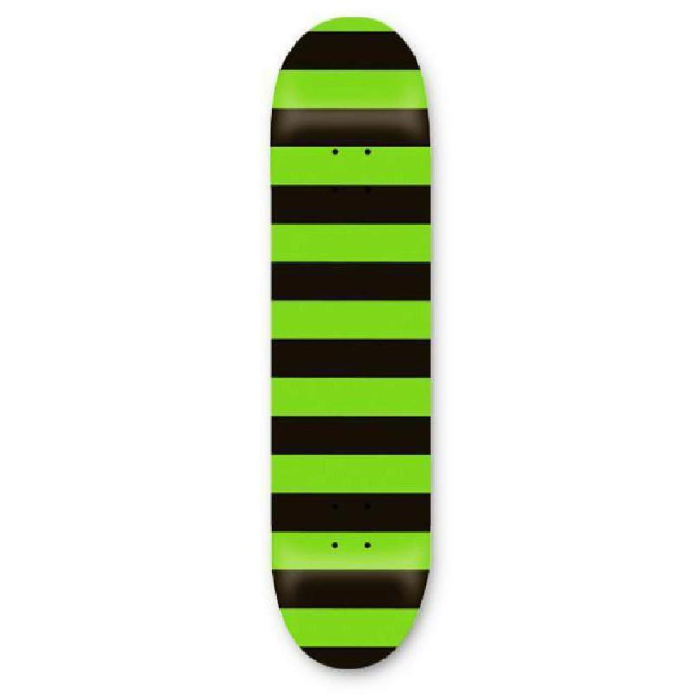 "Fat Stripe Neon Green 31""x7.75"" Skateboard - Longboards USA"