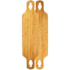 "Fiberglass-Bamboo-Flex Drop Through  40"" Longboard Deck Limited - Longboards USA"