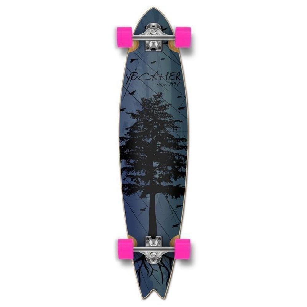 Fishtail Longboard 40 inch Pines Blue from Punked - Complete - Longboards USA