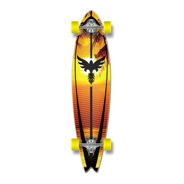 Fishtail Longboard 40 inch Sunset from Punked - Complete - Longboards USA