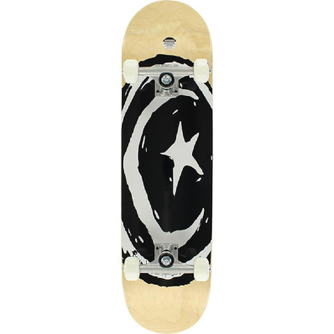"Foundation Star & Moon Black and White 8.38"" Skateboard - Longboards USA"