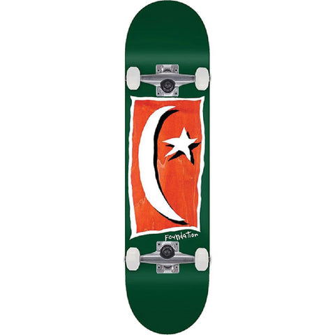 "Foundation Star & Moon V2 in Green 8.13"" Skateboard - Longboards USA"
