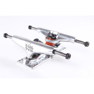 "Free Soul Skateboard Cruiser Trucks 5"" Silver - set of 2 - Longboards USA"