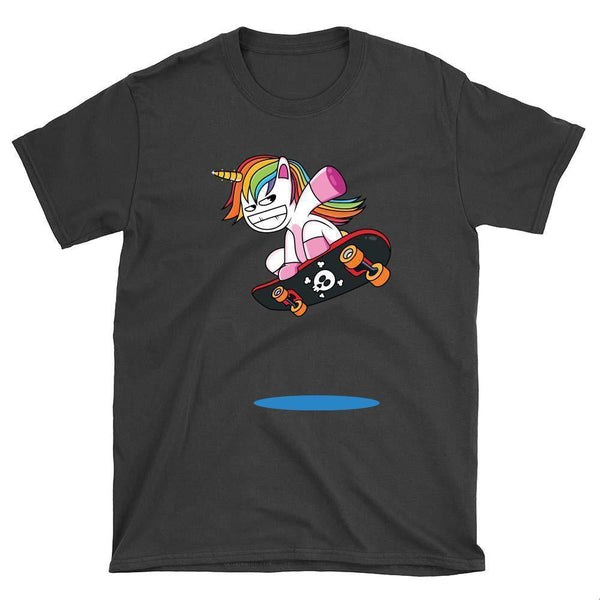 Funny Unicorn Skateboard T-Shirt - Longboards USA