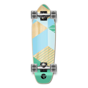 Geometric Green Mini Cruiser Complete - Longboards USA