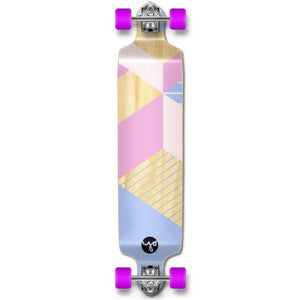 Geometric Purple Drop Down Longboard 41 inches Complete - Longboards USA