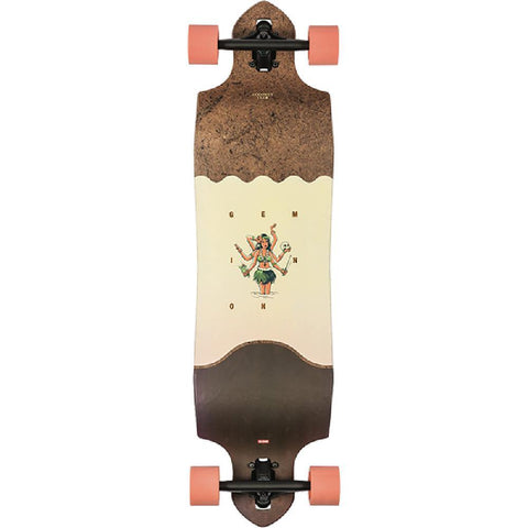 "Globe Geminon Micro Drop Down 37"" Coconut Hula Longboard - Longboards USA"