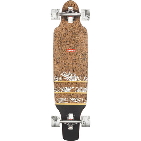 Globe Spearpoint Mini Cork Agave 33 inch Drop Through Cruiser Longboard - Longboards USA