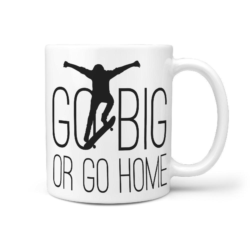 Go Big or Go Home Skateboarding Coffee Mug - Longboards USA