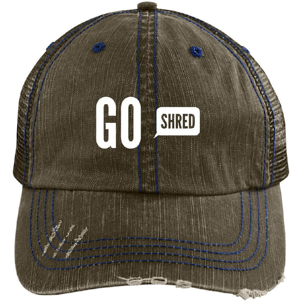 Go Shred Distressed Cap - Longboards USA