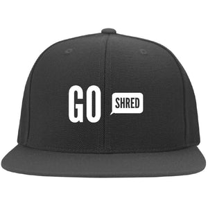 Go Shred Flat Bill Cap - Longboards USA