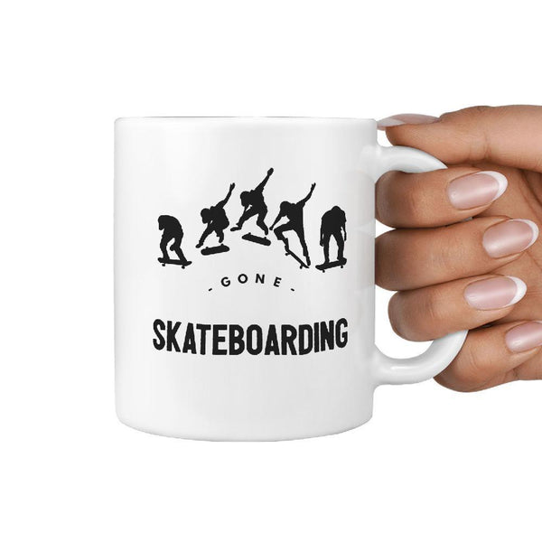 Gone Skateboarding Coffee Mug | Gift Idea for skater skateboarder - Longboards USA