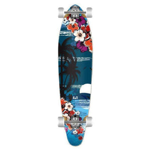 Graphic Tropical Night Kicktail 40 inch Longboard - Longboards USA