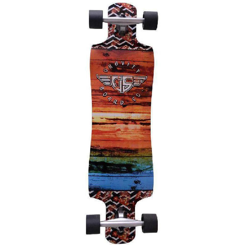 "Gravity Drop Through 38"" Pop Grunge Longboard - Longboards USA"