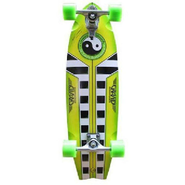 "Gravity Pro Series Larry Bertlemann Lemon Lime 33"" Longboard - Longboards USA"
