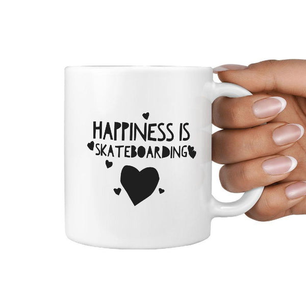 Happiness is Skateboarding Coffee Mug | Gift for Skater - Longboards USA