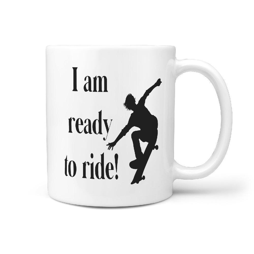 I am ready to ride! | Skateboarding Coffee Mug Gift Idea - Longboards USA