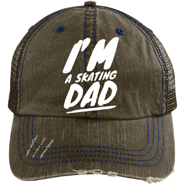 I'm A Skating Dad Distressed Cap - Longboards USA