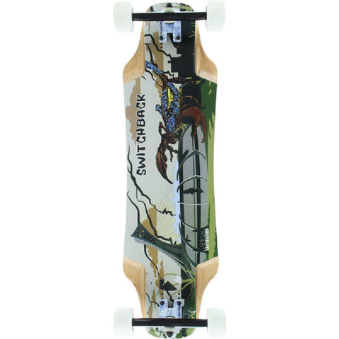 "Kebbek 33"" Switchback Asymmetrical Downhill Longboard - Longboards USA"
