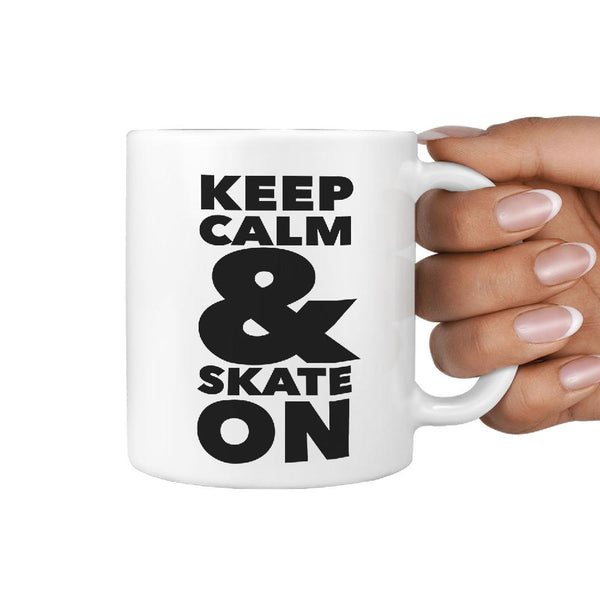 Keep Calm & Skate On - Coffee Mug - Longboards USA