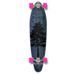 Kicktail In The Pines Blue 40 inches Longboard from Punked - Longboards USA