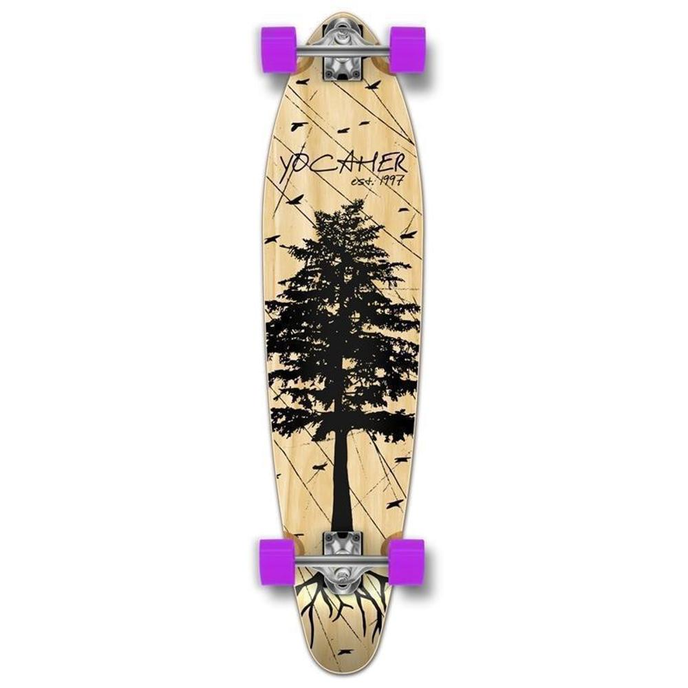 Kicktail In The Pines Natural 40 inches Longboard from Punked - Longboards USA