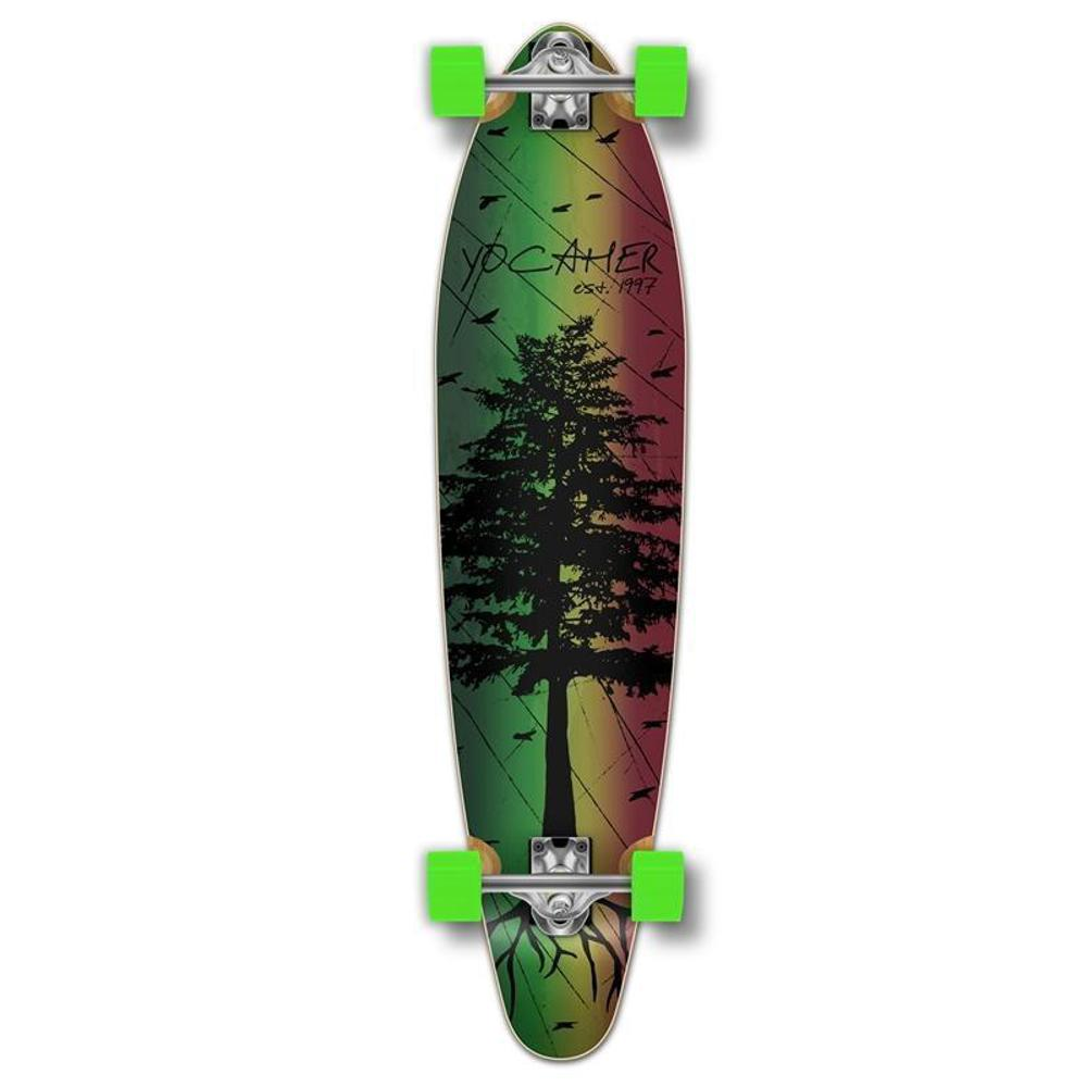 Kicktail In The Pines Rasta 40 inches Longboard from Punked - Longboards USA