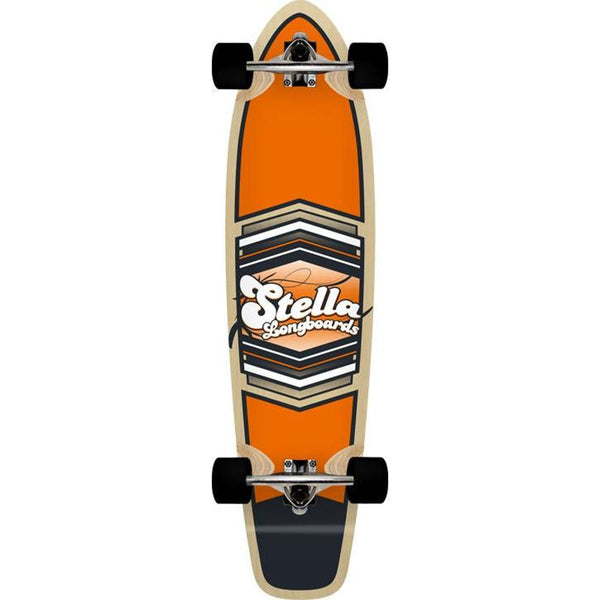 "Kicktail Longboard Stella Shield Orange 38"" Complete-Longboards USA"