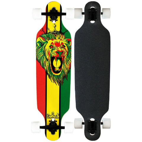 "Krown - Elite Drop Through Rasta Lion 36"" - Longboards USA"