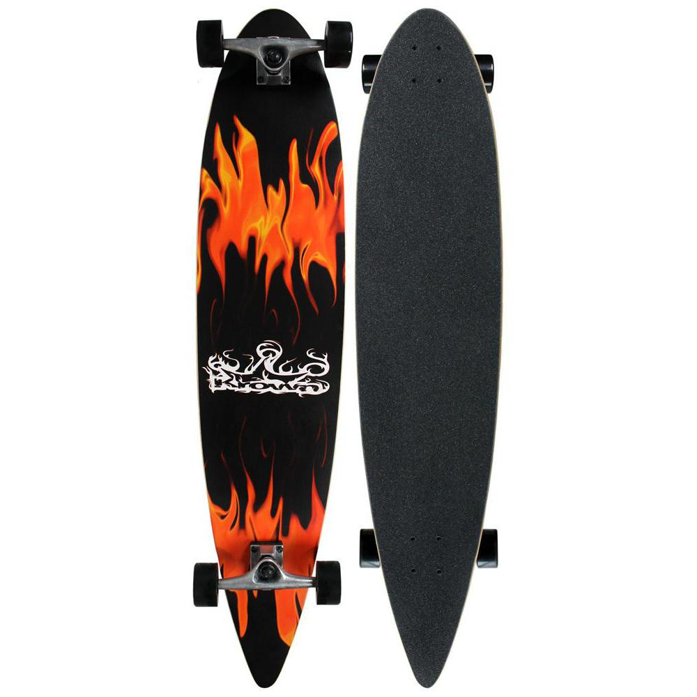 "Krown Red Flame 43"" Pintail Longboard - Longboards USA"