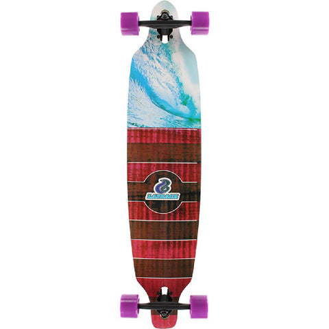 "Layback 40"" Pipe Dreams Bamboo Drop Through Longboard Complete - Longboards USA"
