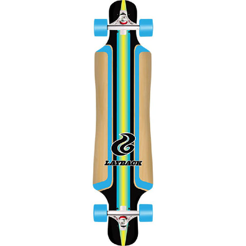"Layback Finish Line Bamboo 40"" Drop Through Complete Longboard - Longboards USA"
