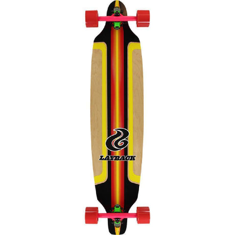 Layback Red Finish Line - Bamboo 41 inch Drop Through Longboard - Longboards USA