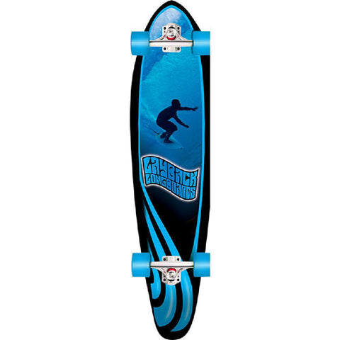 "Layback Slotted 38"" Kicktail Longboard Complete - Longboards USA"