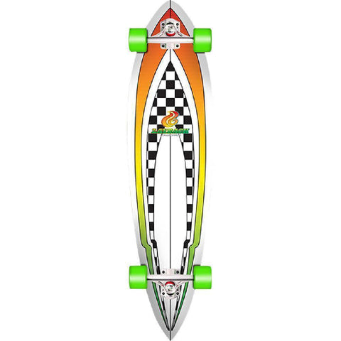 "Layback Throwback 40"" Pintail Longboard - Longboards USA"