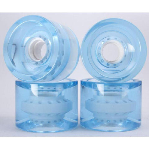 Light Clear Blue 70mm Gel Soft Longboard Wheels - Longboards USA