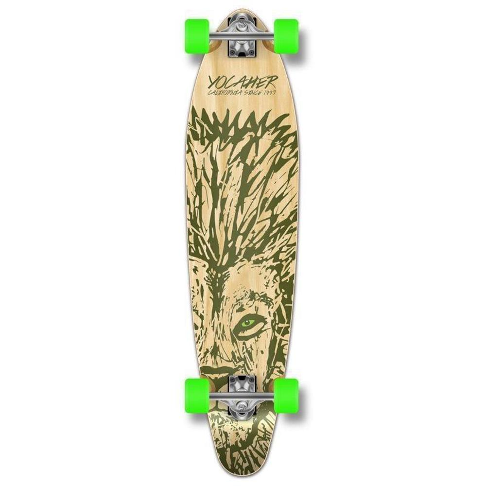 "Lion 40"" Kicktail Longboard from Punked - Complete - Longboards USA"