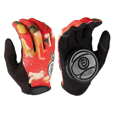 Longboard Downhill Red Sliding Gloves - Longboards USA