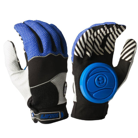 Longboard Downhill Sliding Gloves - Blue Puck - Longboards USA