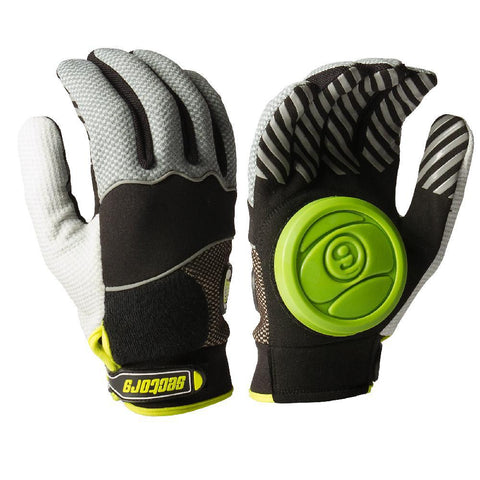 Longboard Downhill Sliding Gloves - Green Puck - Longboards USA