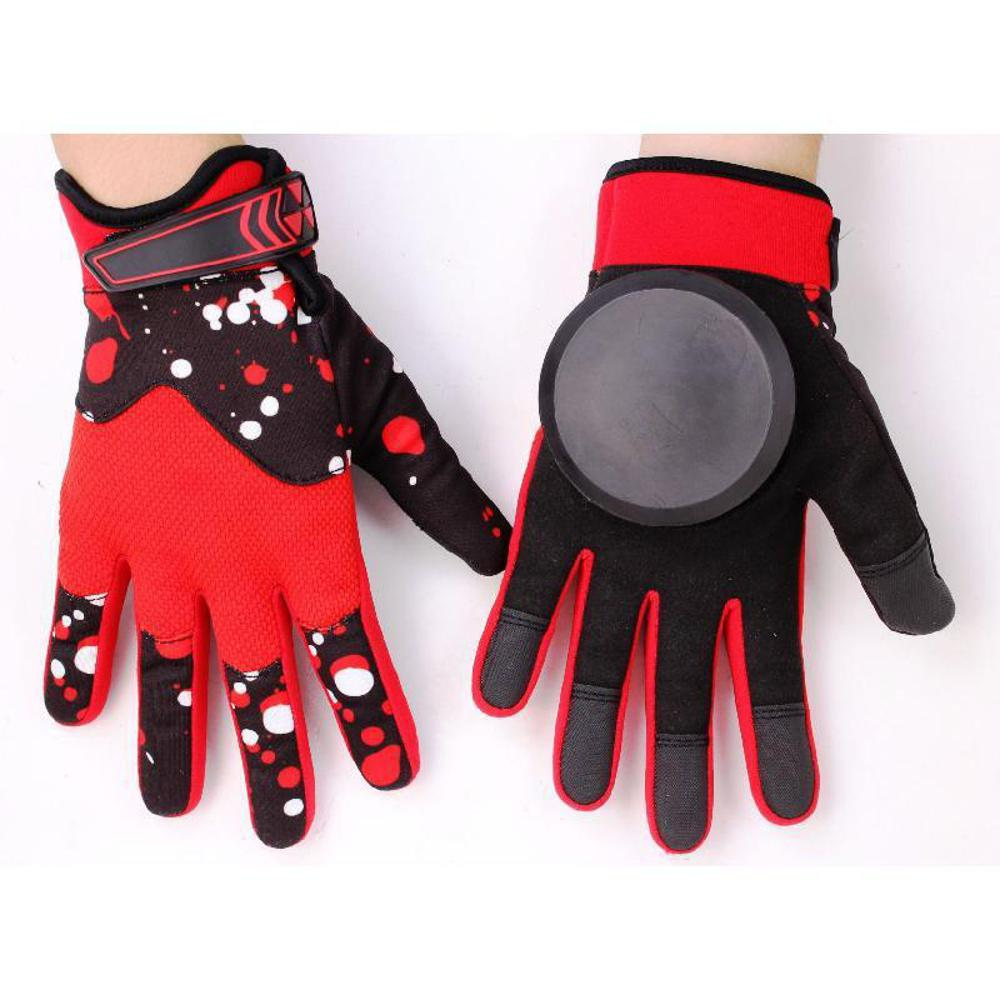 Longboard Downhill Sliding Gloves - Red - Longboards USA