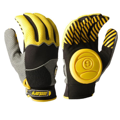 Longboard Downhill Sliding Gloves - Yellow Puck - Longboards USA