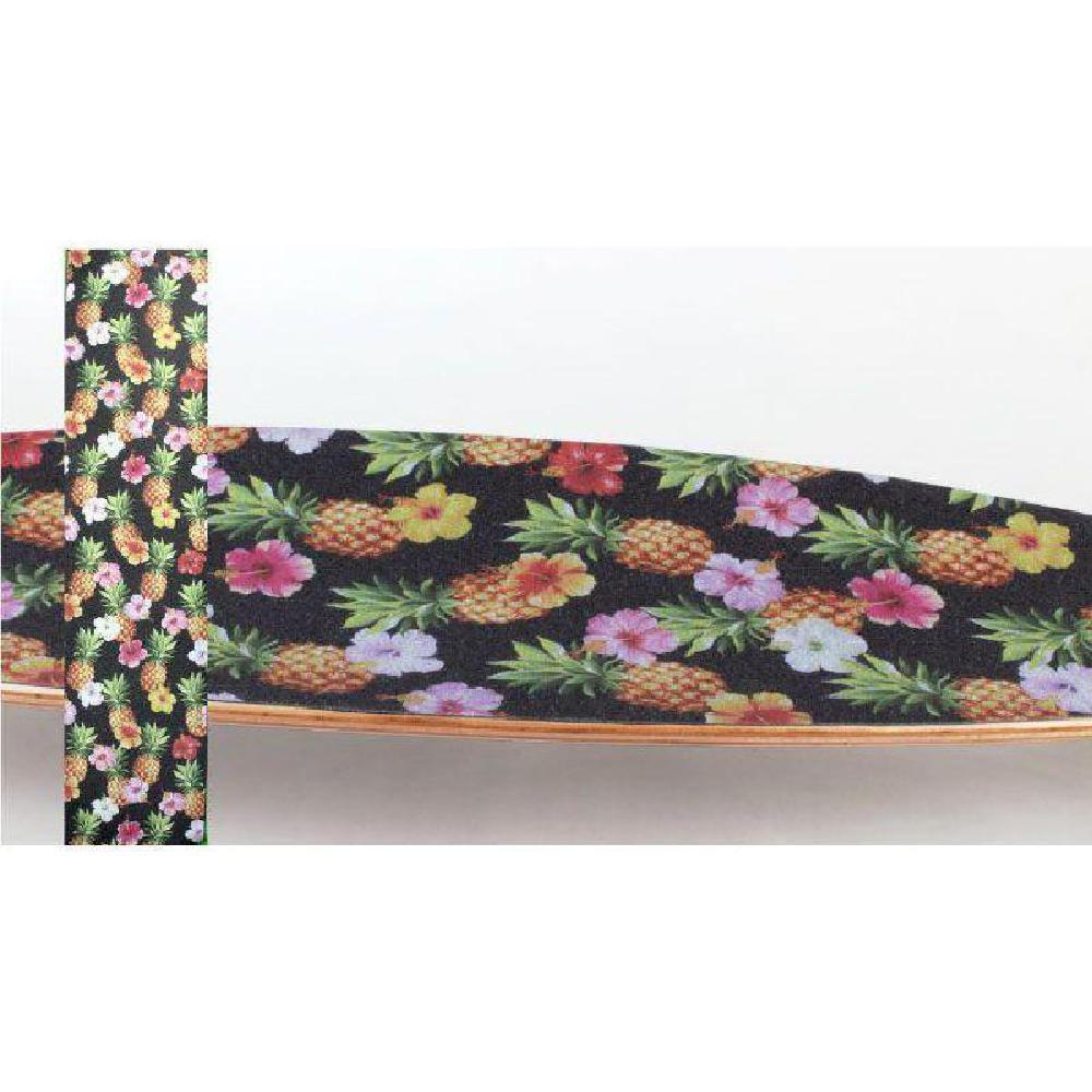 "Longboard Skateboard Pineapple Flower 42"" x 10"" Griptape Sheet - Longboards USA"