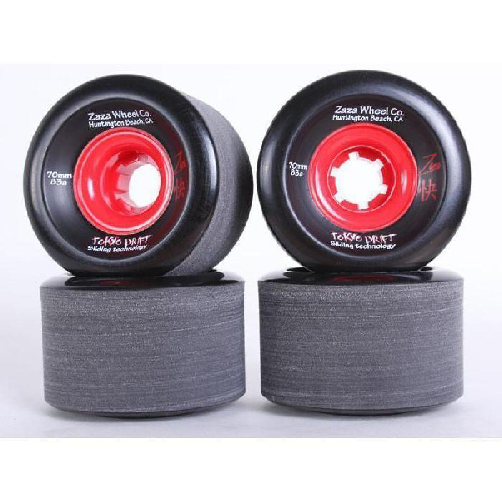 Longboard Sliding Wheels Zaza Black Tokyo Drift 70mm 83a - Longboards USA