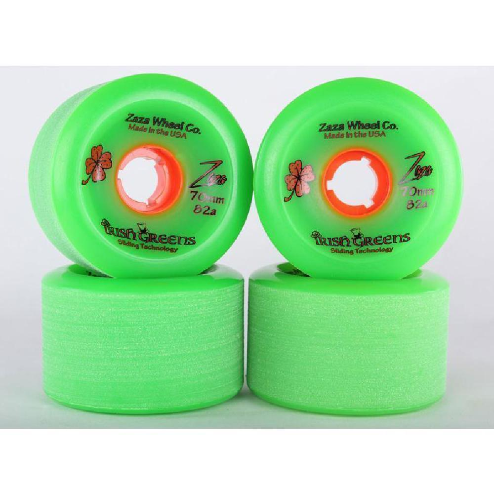 Longboard Sliding Wheels Zaza Irish Green Zaza 70mm 82a - Longboards USA