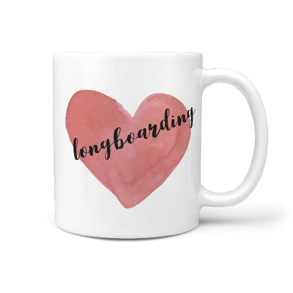 Love Longboarding Coffee Mug Gift Idea - Longboards USA