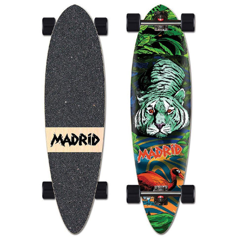 "Madrid 36"" Tiger Blunt Nose Longboard - Longboards USA"
